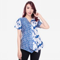 Glow Fashion Ivana Baju Atasan Blouse Kemaja Batik Wanita ALL SIZE FIT TO L