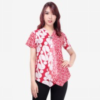 Glow Fashion Ivanie Baju Atasan Blouse Kemaja Batik Wanita ALL SIZE FIT TO L