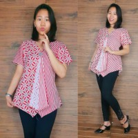 Glow Fashion Isabela Baju Atasan Blouse Kemaja Batik Wanita ALL SIZE FIT TO L