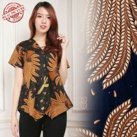 Glow Fashion Junita Baju Atasan Blouse Kemaja Batik Wanita ALL SIZE FIT TO L