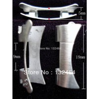 [globalbuy] ONE PAIR OF STAINLESS STEEL ALL BRUSHED END PIECES FOR ROLEX OLD 19MM OYSTER W/2966367