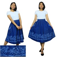 Glow Fashion Desra Rok Jeans Maxi Pendek Wanita Jumbo Skirt ALL SIZE Fit to XXL