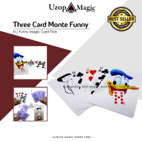 Three Card Monte Funny (Alat sulap, Kartu sulap)