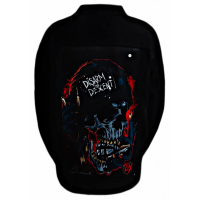 jaket denim printing hitam disarm the descent SKU-53