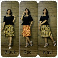 Glow Fashion Calie Rok Maxi Payung Pendek Wanita Jumbo Skirt ALL SIZE FIT TO XXL