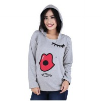 Sweater wanita/sweater distro wanitaCatenzo PS 518 Abu