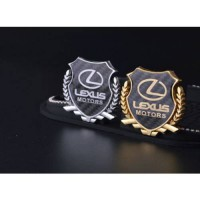 [globalbuy] 2PCS X 3D Metal Carbon fiber Auto Lexus MOTOR SPORT Side Emblem Decal Sticker/1795931