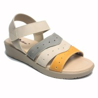 Dr. Kevin Women Flat Sandals Sepatu sandal 571-549 - (2 Warna) Cream/Combination & Tan/Combination