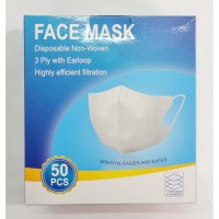 Face Mask Duckbill Import Masker Dewasa 3 PLy Earloop Grosir isi 50