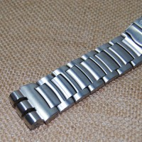 [globalbuy] 23mm Sliver metal stainless steel butterfly clasp strap for Swatch YOS440 441 /2913468