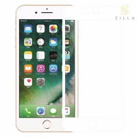 Zilla 3D Full Protect Tempered Glass Curved Edge 9H 0.26mm for iPhone 7 - White