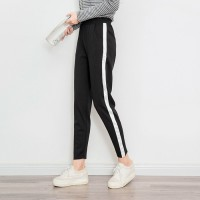 SIDE STRIPED PANTS - Hitam