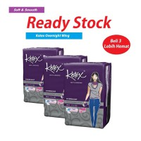 3 Pack Kotex Overnight Wing 28cm Isi @14
