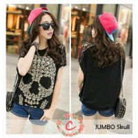 BLOUSE SKULL JUMBO SPANDEK RAYON MIX BRUKAT FIT TO XXL GOOD QUALITY