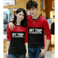 KAOS COUPLE MYTRIP 4 WARNA SPANDEK