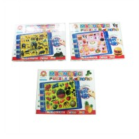 Magnetic Puzzle + Wordpad Animals/Fruits/Foods