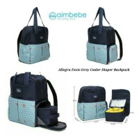 Allegra Foxie Grey Diaper backpack