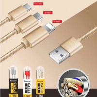 Micro Lightning Type C CABLE DATA Fast Charging High Speed Kabel Data USB Apple Android Hp Ios Smart