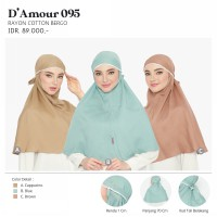 Hijab Rayon Cotton Bergo D' Amour 095 cappucino blue brown