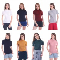 New Collection / Woman Fashion / Bahan Rajut / Sweater / Turtle Neck Top / Neil High Neck Top / 8 Warna / Good Quality
