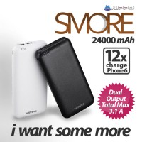 Hippo Power Bank Smore 24000 mAh - Putih