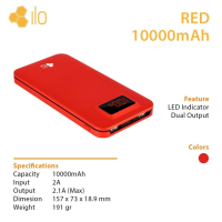 Hippo Power Bank ILO RED 10000mAh Special Edition