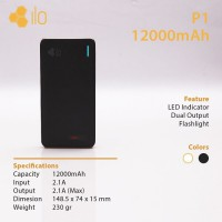Hippo Power Bank ILO P1 12000 mAh