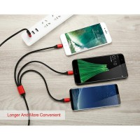 Kabel Charger 3in1 Type C USB + Micro USB + Iphone (1 Meter) [CA-U-TP]