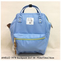 Tas import Wanita Anello Backpack 2in 1 M 197