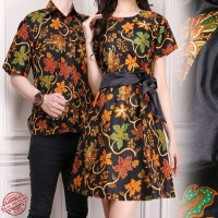 Cj collection Couple batik dress maxi pendek wanita mini dress dan atasan kemeja pria shirt Freda