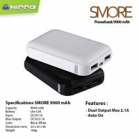 Hippo Power Bank Smore 9000 mAh - Putih