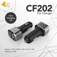 Hippo ILO CF202 Car Charger Mobil Quick Fast Charging 3.0 Value Pack