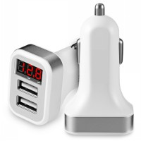 Car Charger Fast Charging Ampere Charger Mobil LED