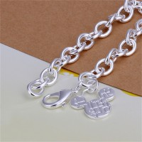 Gelang Sterling Silver Mickey Mouse Head Charm Bracelets