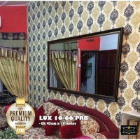 wallpaper sticker 10-66B uk 45cm x 10m batik bunga hitam gold