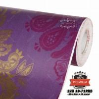 wallpaper sticker 10-72B uk 45cm x 10m batik ungu