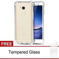 Case Anti-Crack Xiaomi Redmi 4 Prime TPU Softcase (Clear) FREE Tempered Glass