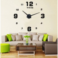 DIY Giant Wall Clock 80-130cm Diameter - ELET00660 / Jam Dinding - Black