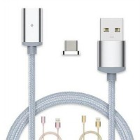 Kabel Charger Magnetic Micro USB - Silver