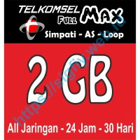 Telkomsel Data Full MAX 2GB (Simpati, Kartu AS, Loop) 24jam 30hari