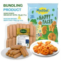 BUNDLING FRONTE SOSIS BREAKFAST HOTEL 1KG dan MYDIBEL HAPPY FACE 750GR