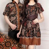 Couple batik dress wanita mini dress dan atasan kemeja pria shirt Choconia