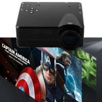 Mini Projector Lumens 400 Lumens Brightness Color Led  With Analog Tv Receiver