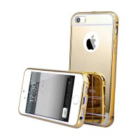 Bumper Case Mirror Casing for iPhone 5 - Gold