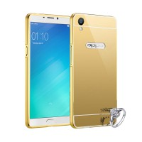 Bumper Mirror Slide Alumunium Metal Sliding Hardcase Casing for Mirror Oppo F1 Plus