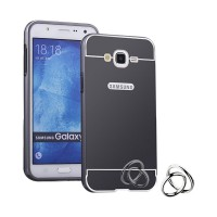 Bumper Mirror Slide Alumunium Metal Sliding Backcase Casing for Samsung Galaxy A3 A300 - Hitam