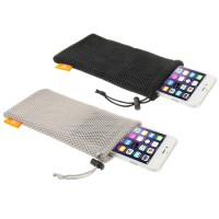 [HAWEEL] Nylon Mesh Pouch Bag Kit for iPhone 6 Plus / 5.5 inch Mobile Phone, Size: 18.5cm x 9cm