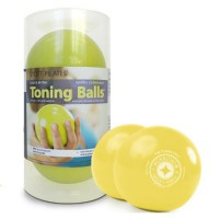 PILATES MERRITHEW CANADA Toning Ball Two-pack 2lbs (lemon)
