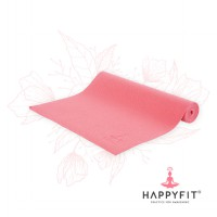 HAPPYFIT MATRAS YOGA 6MM RED (GRATIS TAS)/PVC MAT(FREE BAG) TERMURAH