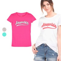Ladies Short Sleeve Round Neck T-Shirts - Available In 4 Colors